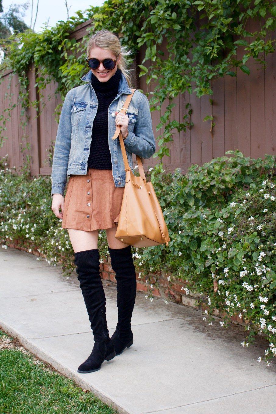 layered mini skirt