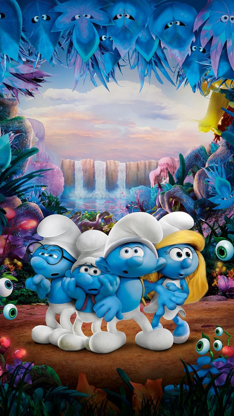 Smurfs The Lost Village 2017 Phone Wallpaper Moviemania Smurfs Lost Village Cartoon Wallpaper