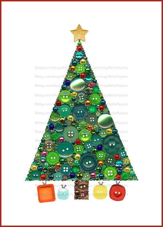 Christmas Tree Button Art Print Button Christmas Tree Jewelry Christmas Tree Decor Christmas Decoration Holiday Decor Christmas Ornament Jewelry Christmas Tree Button Art Christmas Pebble Art