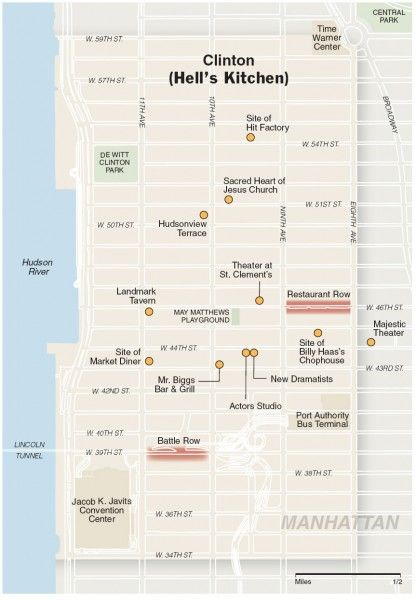Hells Kitchen New York Map.Tourist Map Of Clinton Hell S Kitchen From Ireland To Nyc Hells