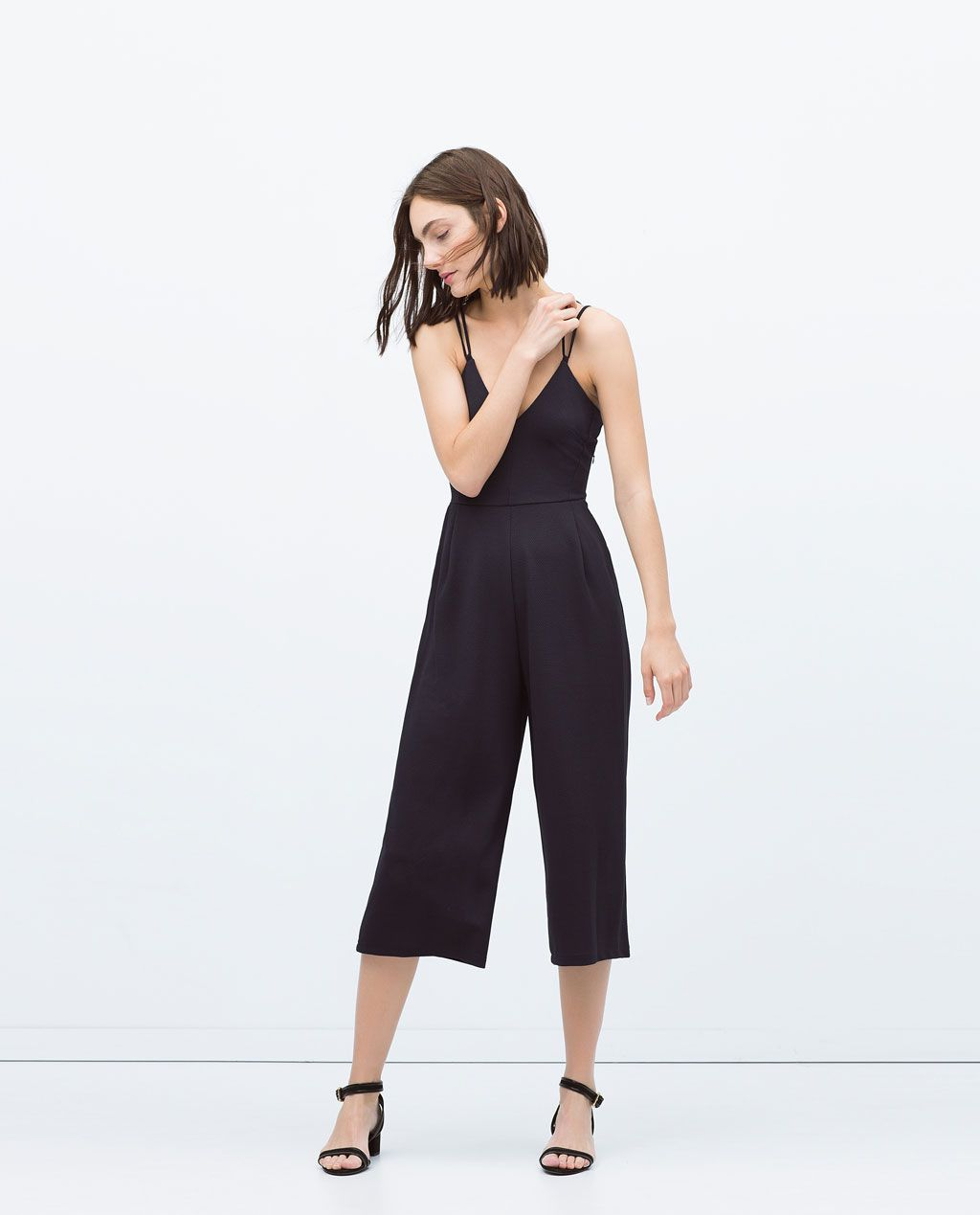 a44468f41caf Image 1 of SPAGHETTI STRAP JUMPSUIT from Zara
