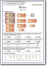 Money Worksheet For Grade  In Rupees  Yahoo India Image Search
