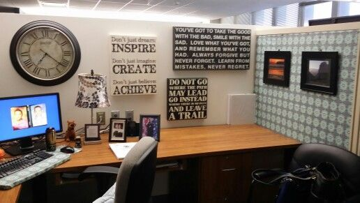 Attractive Office Cubicle Decor