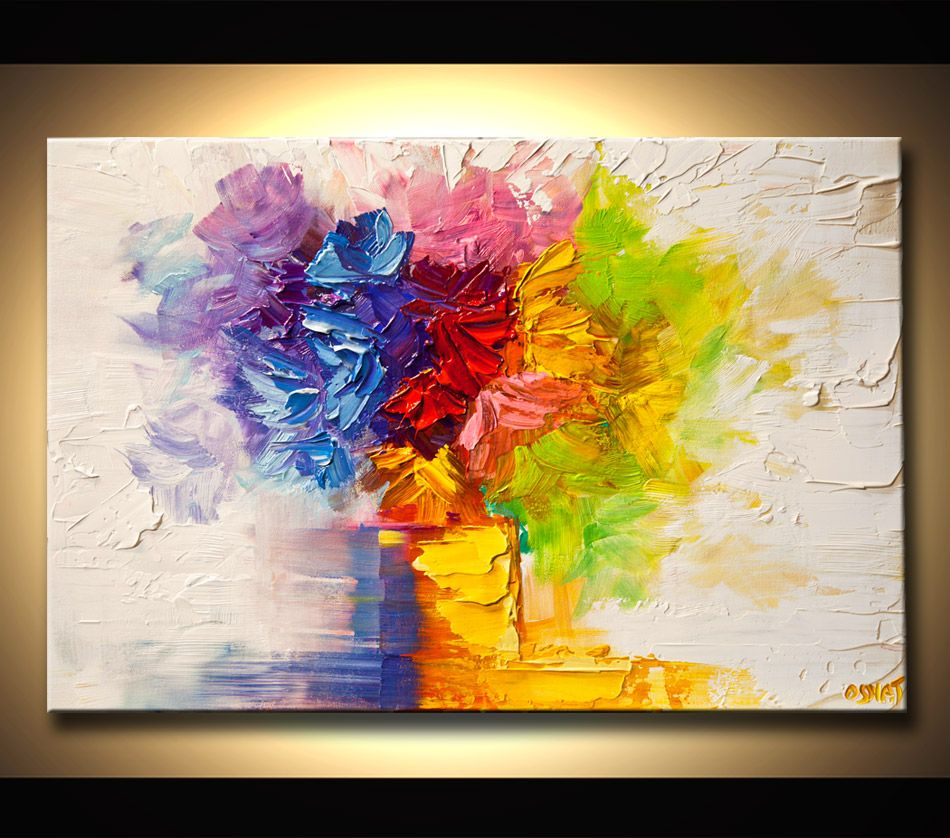 Modern Flower Art Paintings . Abstract - And Landscape Osnat