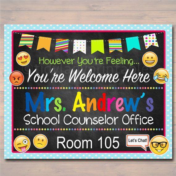 School Counselor Door Sign, Child Counselor Door Sign ...