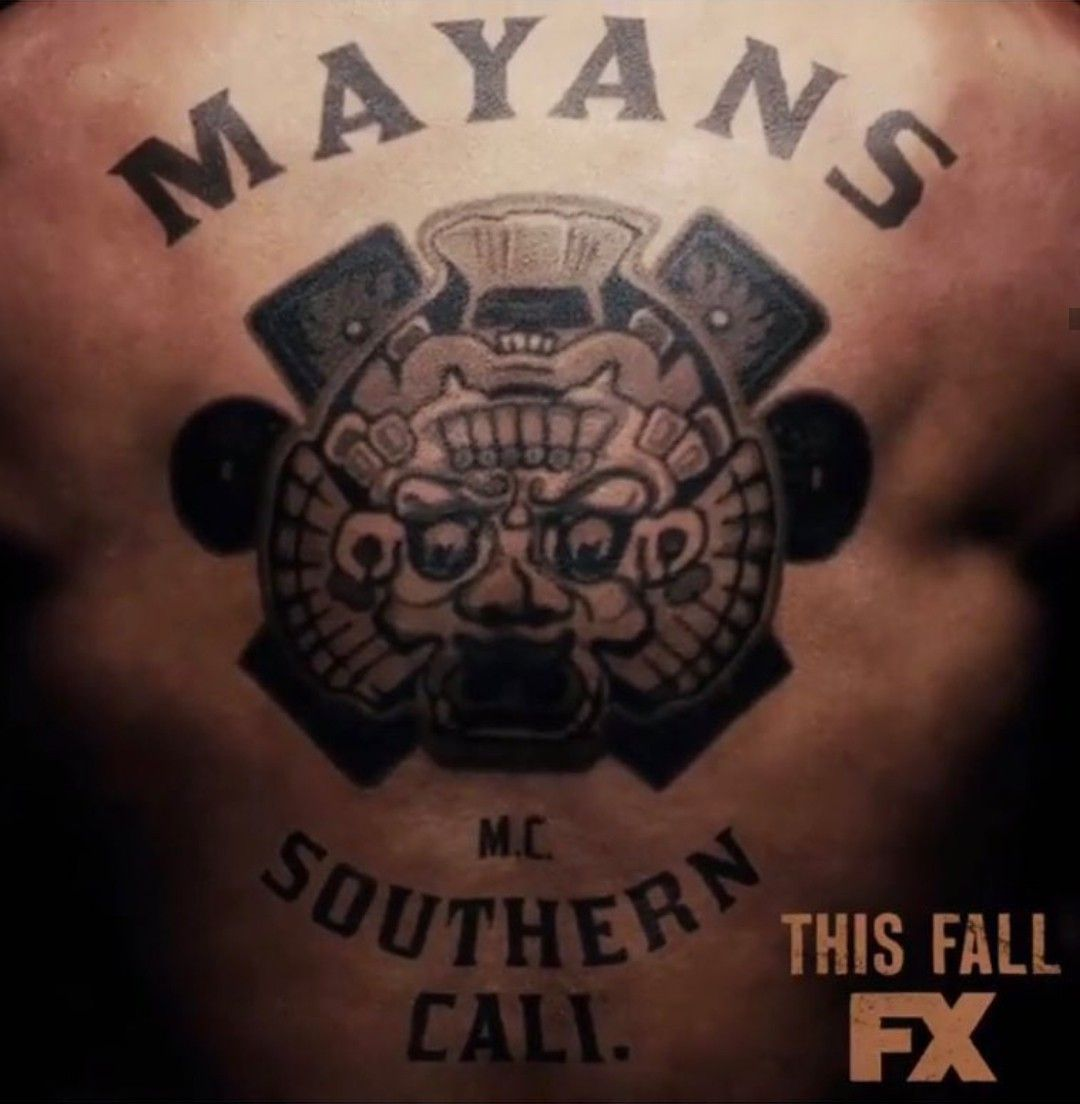 Mayans Mc Patch Over From Sons Of Anarchy Mayan Sons Of Anarchy Mcs