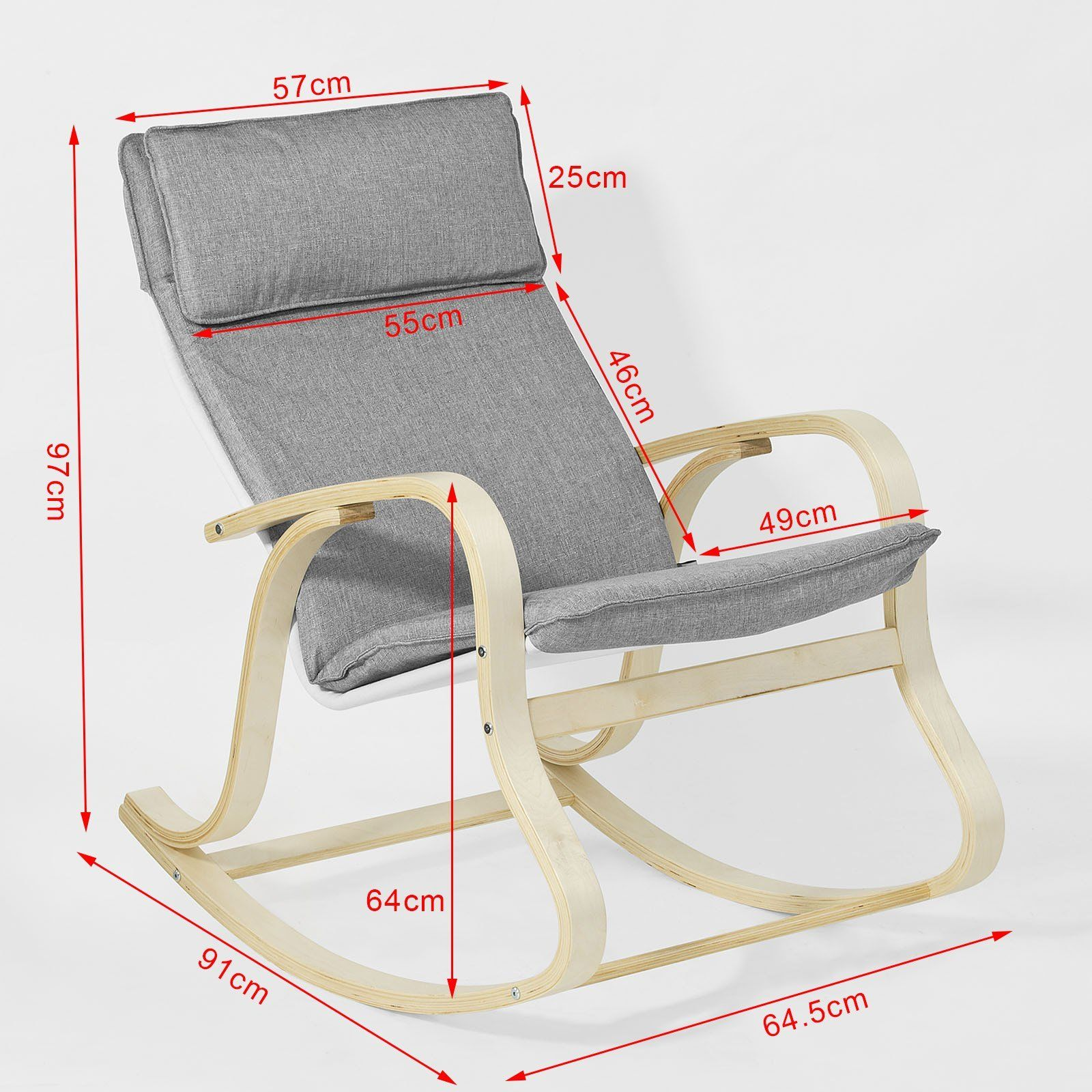 Haotian Fst15dg Comfortable Relax Rocking Chair Lounge Chair Relax Chair With Cotton Fabric Cushion More Rocking Chair Relaxing Chair Furniture Design Chair