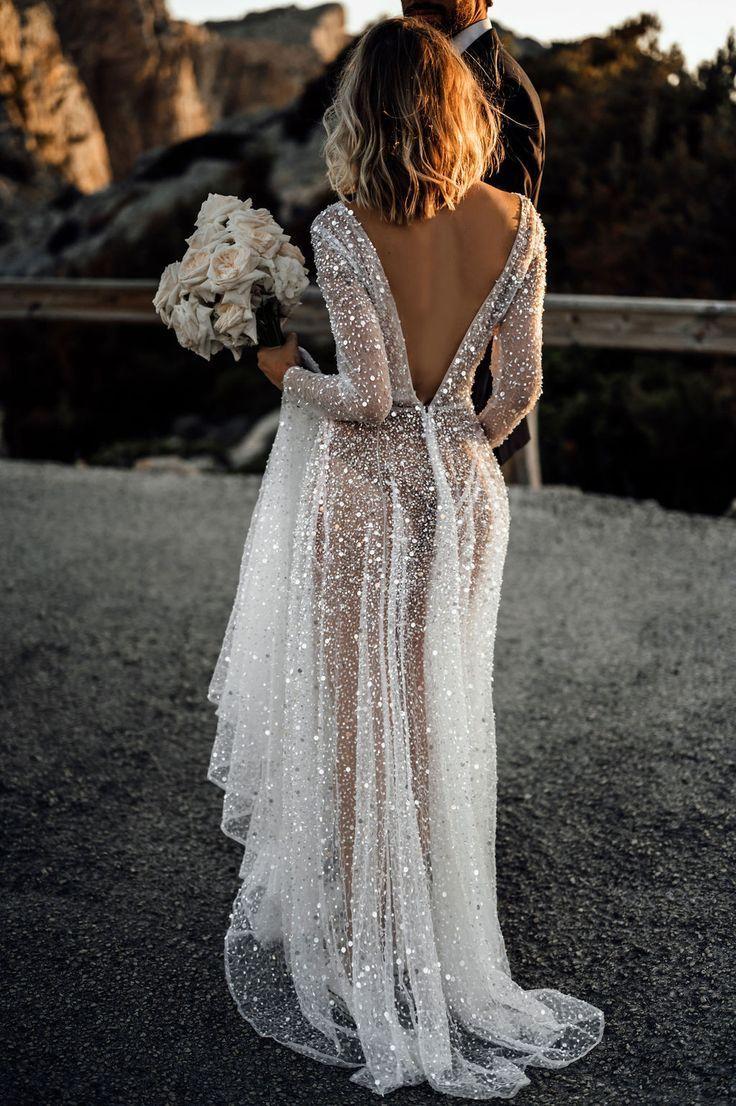 Ren sexig bröllopsklänning
