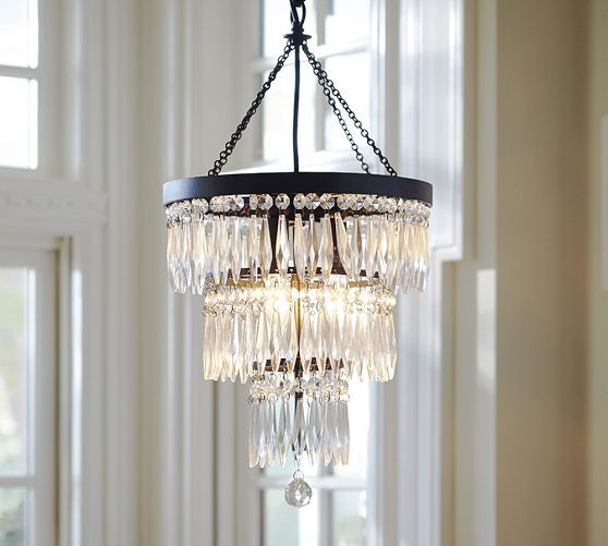 Pottery Barn Bronze Chandelier: Adele Crystal Small Chandelier