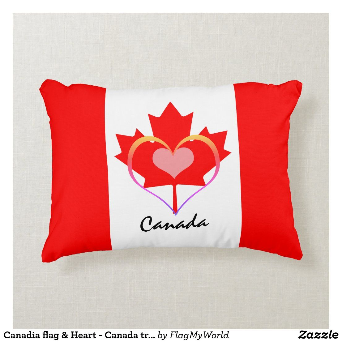 Canadia flag & Heart Canada travel /sports fans Accent