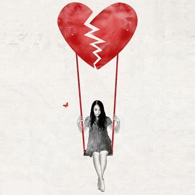 Gambar Dp Bbm Sakit Hati Atau Patah Hati Seni Gelap Ilustrasi Patah Hati