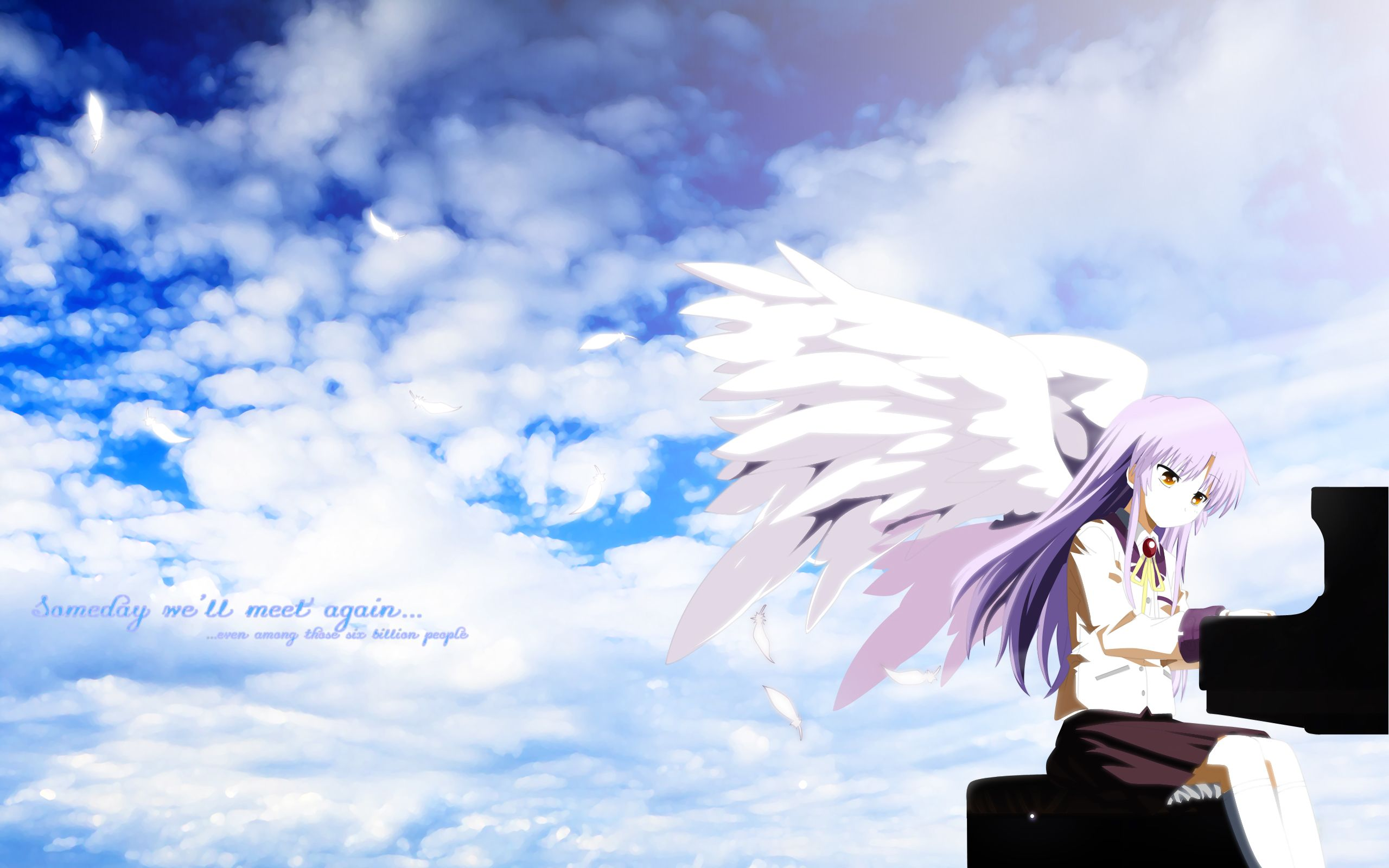 Angel Beats Computer Wallpapers Desktop Backgrounds 2560x1600 Id 195698 Angel Beats Angel Beats Anime Anime