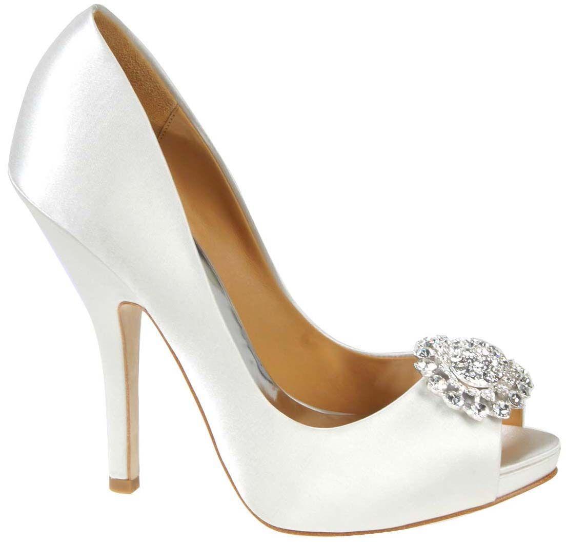 Fabulous Badgley Mischka Bridal Shoes Bridal Shoes Low heel Flats Wedges PIcs in Pakistan Mid Heel