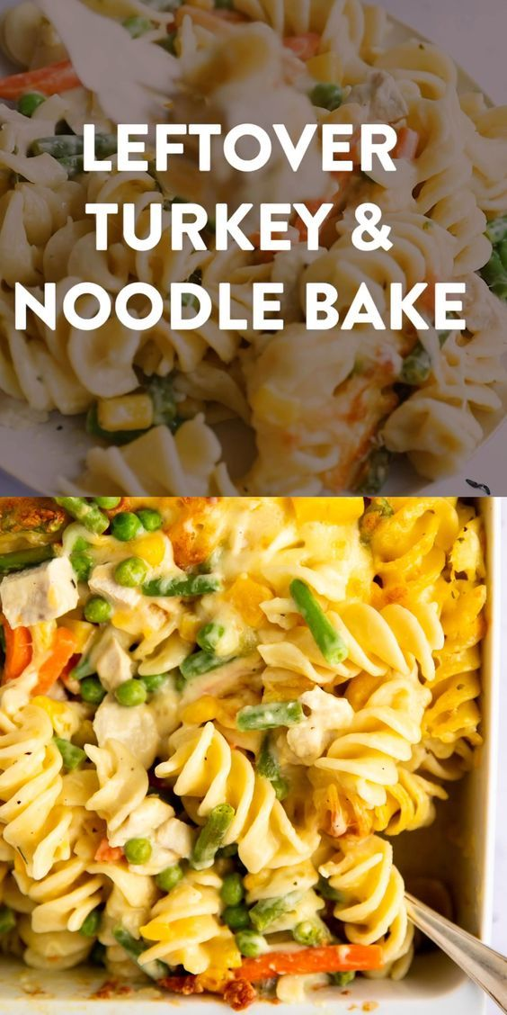 Turkey Noodle Casserole Recipe   Savory Nothings