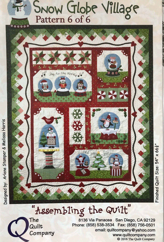 Snow Globe Village Block Of The Month Quilt Pattern