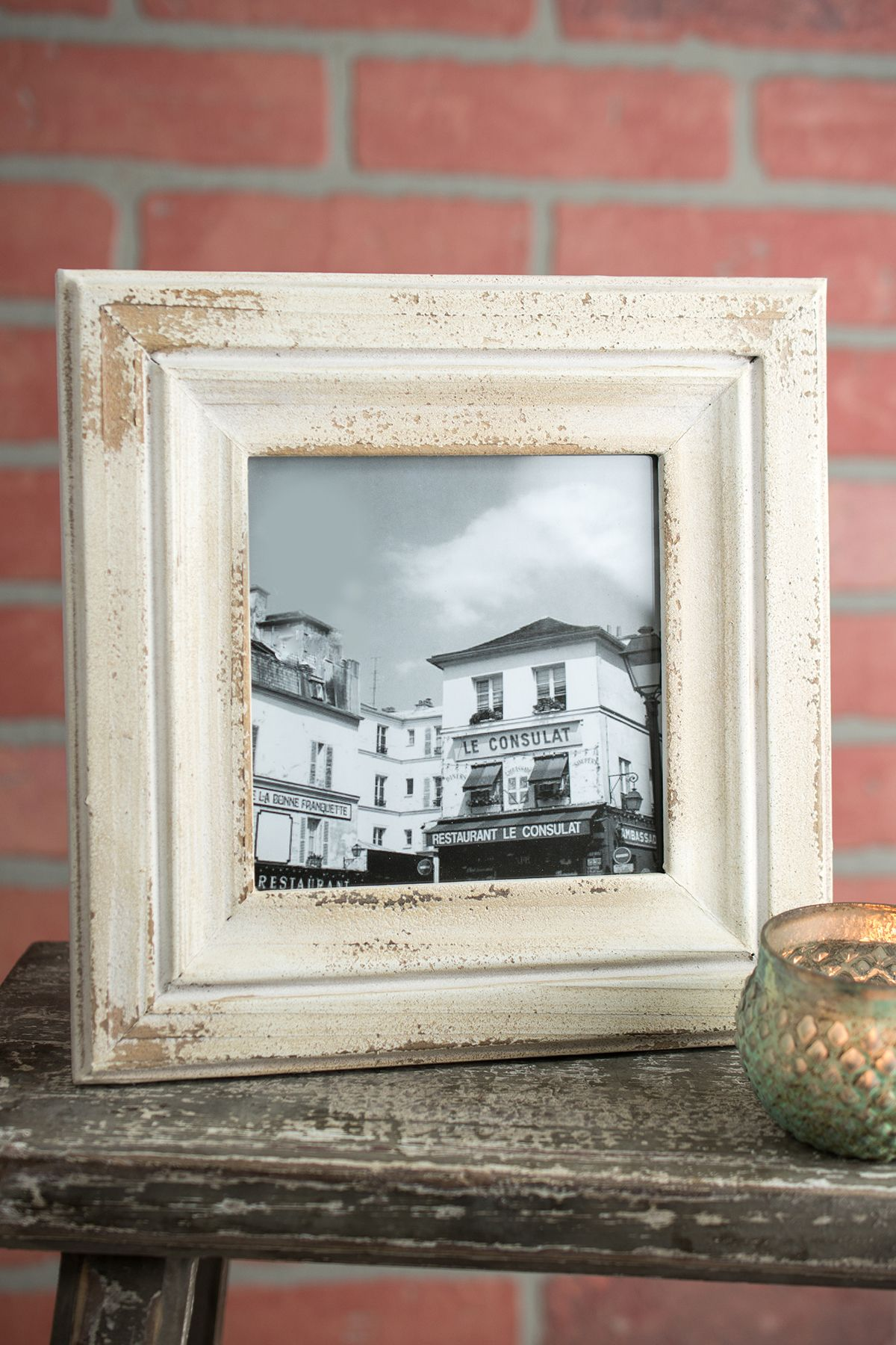 Rustic White Wood Photo Frame 5x5 A Perfect Farm House Look