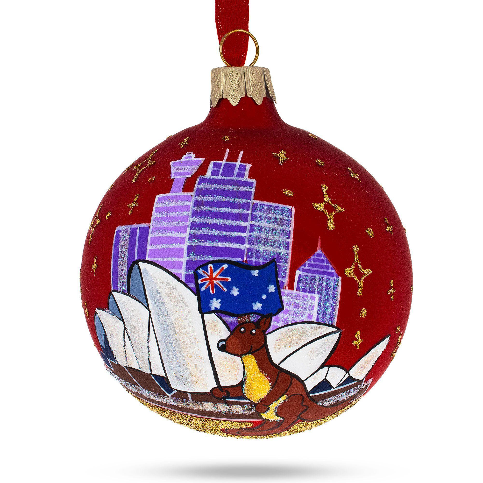 Sydney Opera House Australia Glass Christmas Ornament Glass Christmas Ornaments Christmas Ornaments Gift Box Design