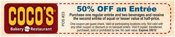 Restaurants Savings for Lunch, Dinner, Breakfast, Pies, Gluten Free