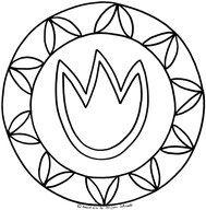 Tulpen Mandala Für Kinder Zum Ausdrucken Ausmalen Kostenlos