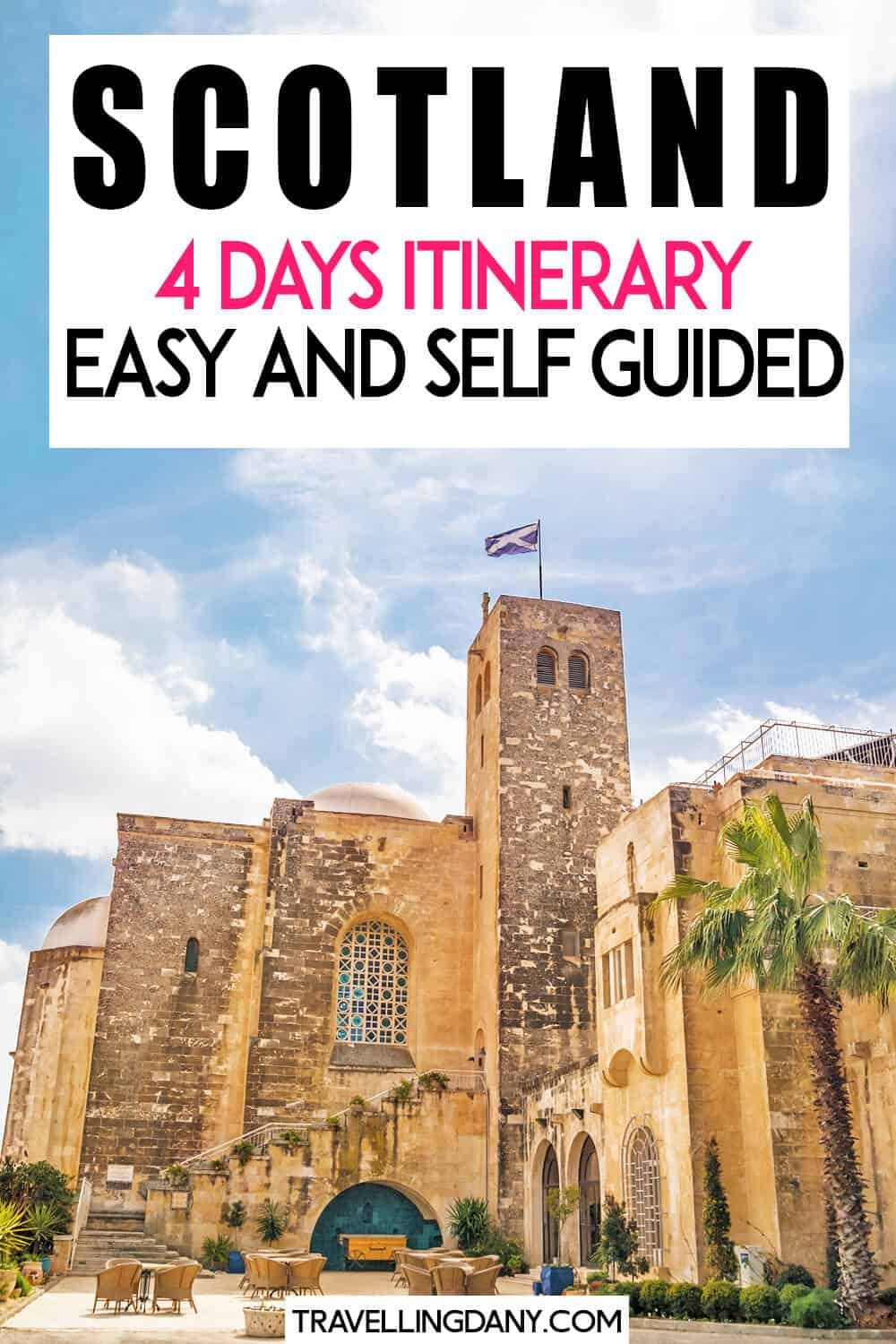 Are you planning a short Scotland road trip? This itinerary will help you to plan 4 days in Scotland, with info on what to see in Edinburgh and how to explore if you don't want to rent a car! | #scotland #scotlandtravel