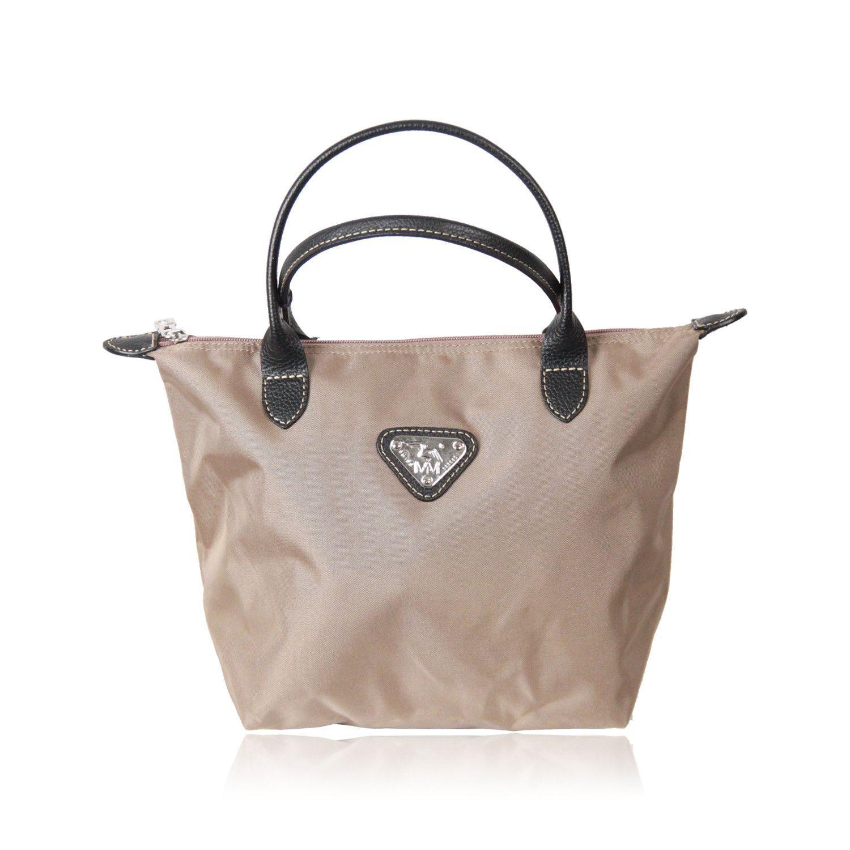 468aaf2ec76e MAISON MOLLERUS Taupe Nylon Small INN TOTE BAG   Handbags -   Bags ...