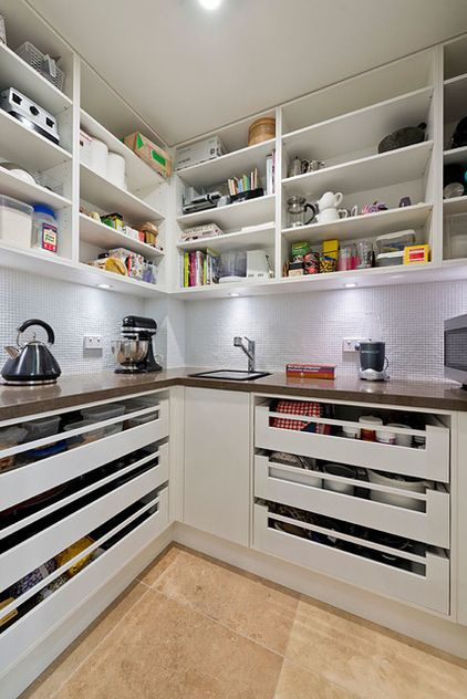 15 Kitchen Pantry Ideas With Form And Function: Contemporary Kitchen By Let's Talk Kitchens & Interiors