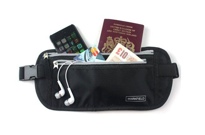 Cinturón portadocumentos riñonera para llevar tu dinero y documentos oculto  bajo… b866c1307131