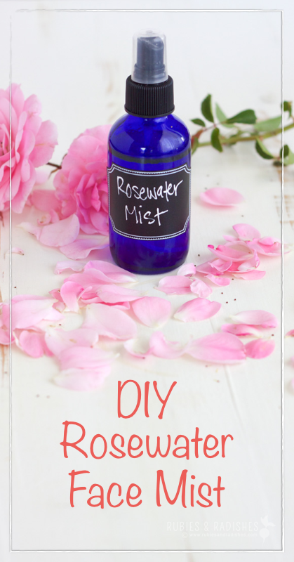 DIY Hydrating Rosewater Face Mist Homemade and healthy