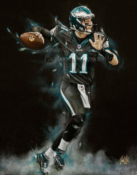 Philadelphia Eagles Carson Wentz Art Print Carson Wentz Philadelphia Eagles Football Philadelphia Eagles Philly Eagles