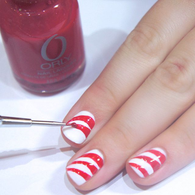 Manicure masterclass how to do christmas candy cane nail art how to do christmas candy cane nail art step by step pictures prinsesfo Gallery