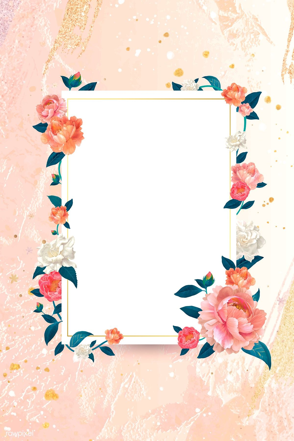 Download Premium Vector Of Blank White Floral Card Template Vector