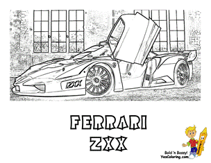 coloring buddy mike recommends  ferrari zxx  side view