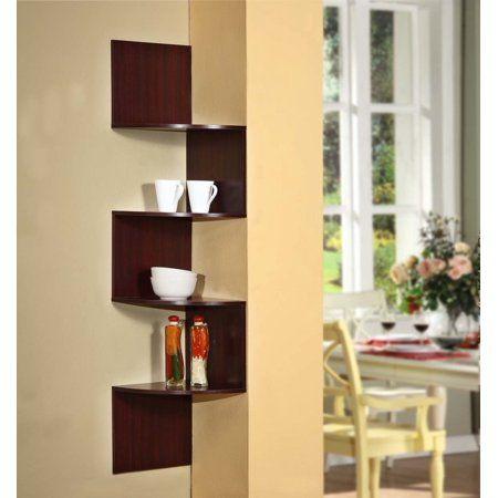Corner Hanging Storage Walmart Com In 2020 Corner Shelf Design Shelves Corner Storage Shelves
