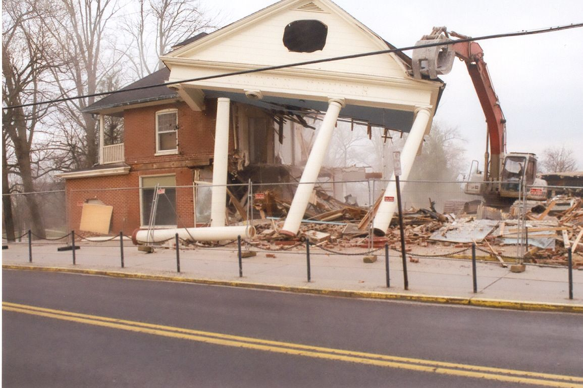 Demolition Of The Old Visitor Center In 2009 American Civil War