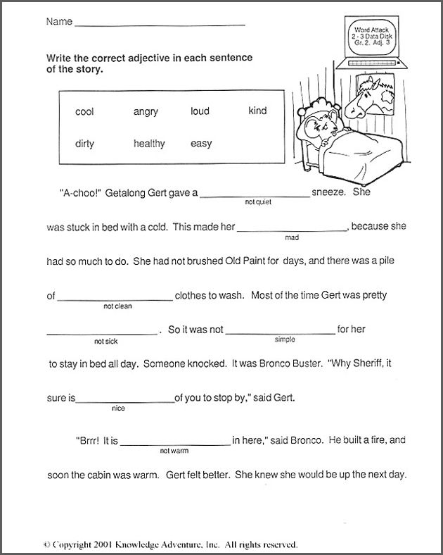 2nd Grade vocabulary worksheets 2nd grade : Getalong Gets Better - Free 2nd Grade English Worksheet ...