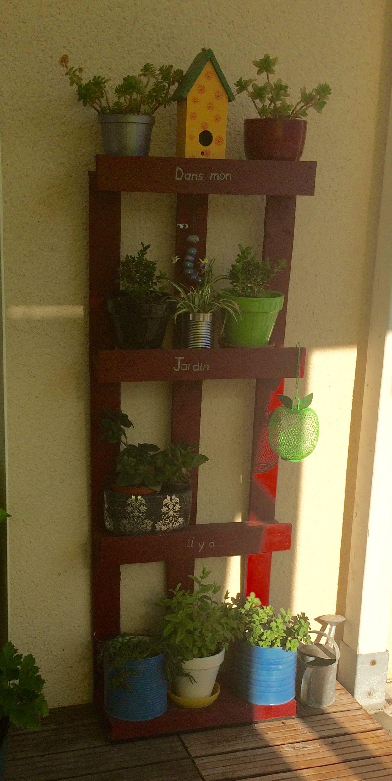 Etagere En Palette Pour Plantes Et Fleurs Palettes Mobilier