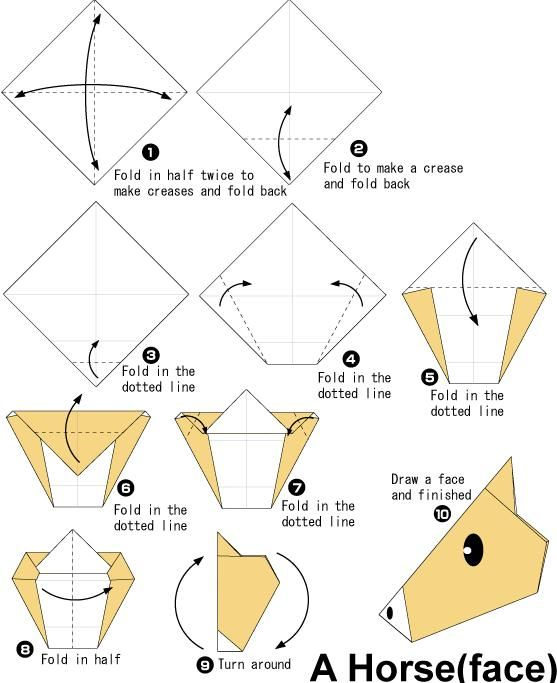 Origami Horse Head Diagram Wiring Library