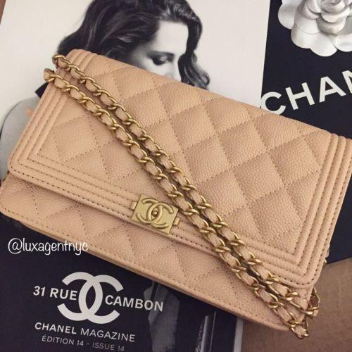 43172ae82294 NEW Chanel Boy WOC wallet on chain beige caviar UNICORN ALERT ...