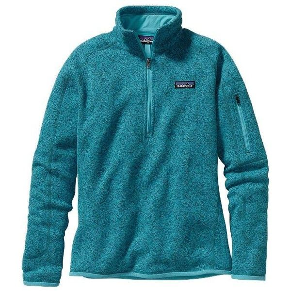 Patagonia Women's Better Sweater® Quarter Zip Fleece ($99) ❤ liked on  Polyvore featuring - Patagonia Women's Better Sweater® Quarter Zip Fleece ($99