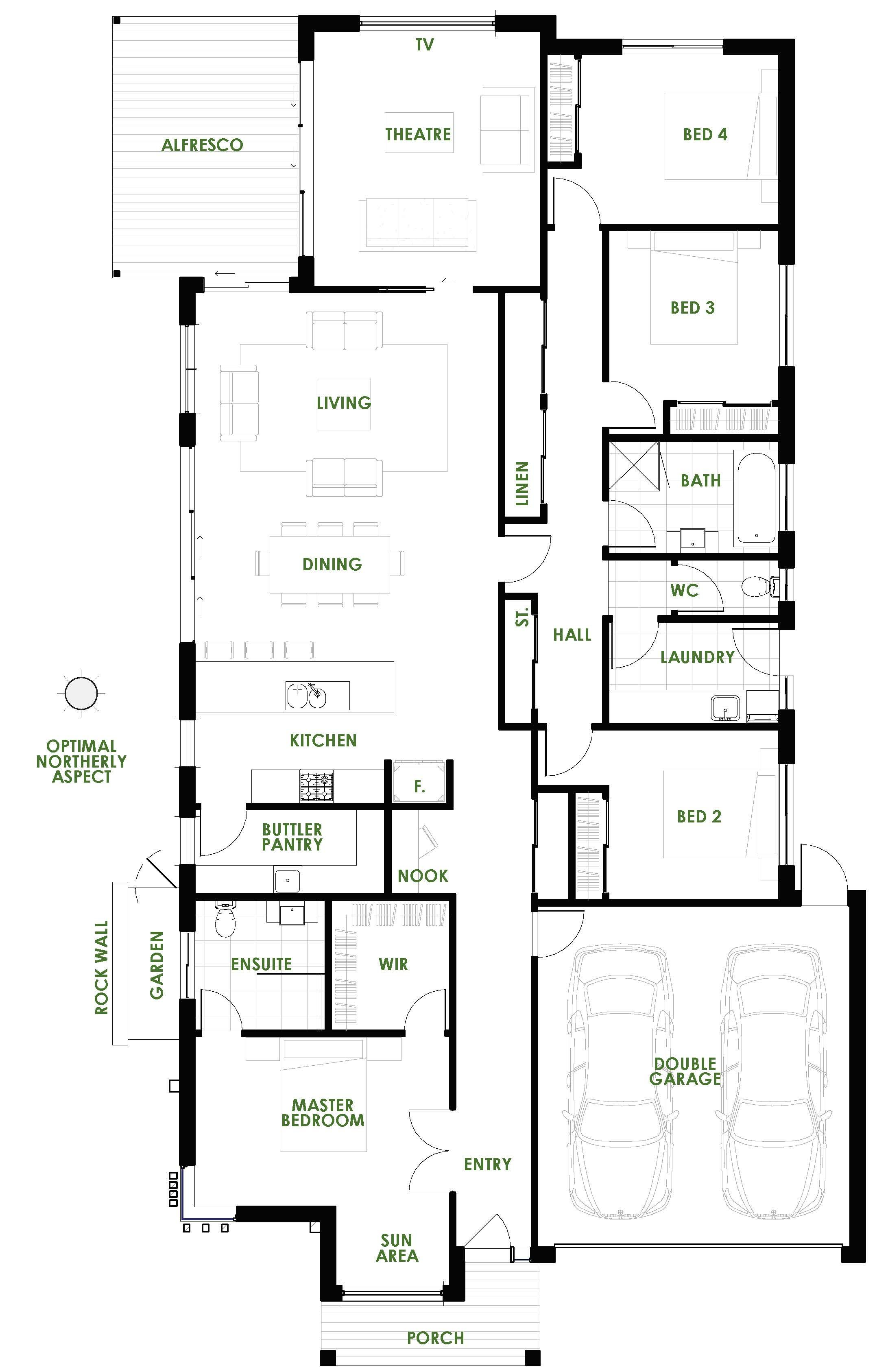 The Rosella 252 home design is modern, practical and energy ...
