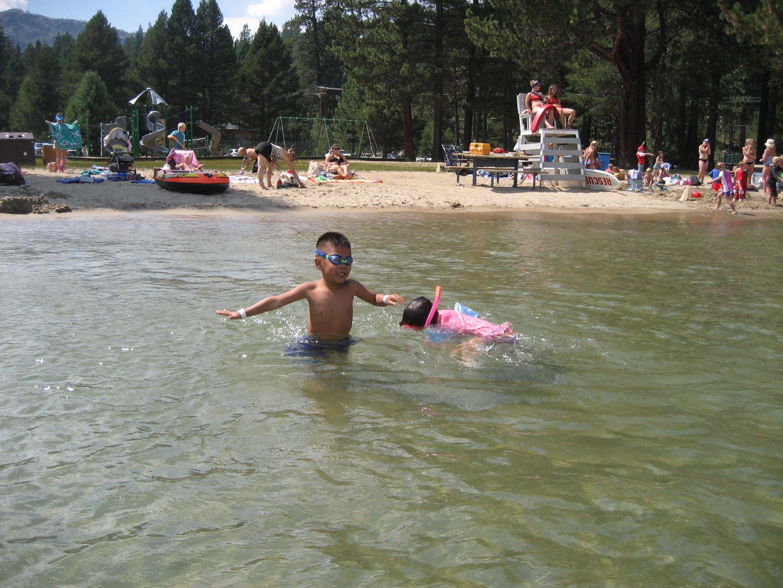 the best beach for kids donner lake truckee lake tahoe lake
