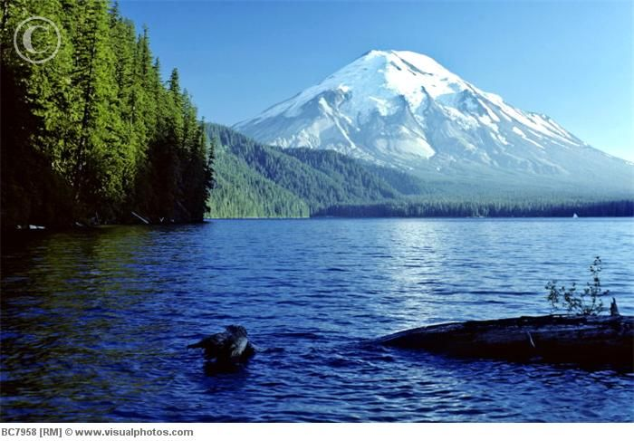 Spirit Lake, Mount St. Helens, Washington (Before the eruption)