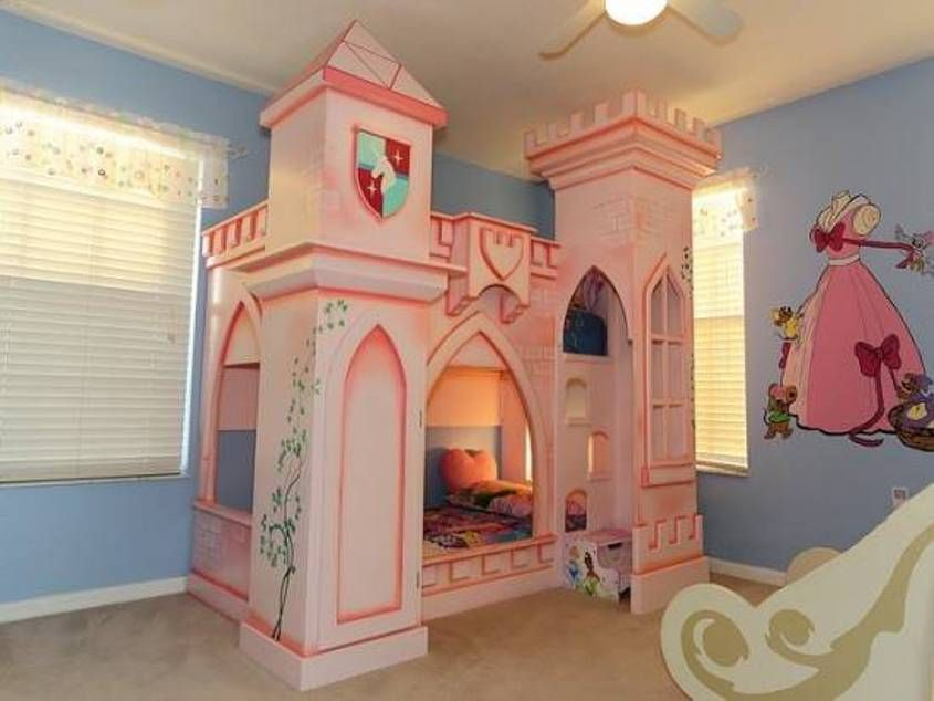 Bedroom the princess castle bedroom cute the princess for Cute dog room ideas
