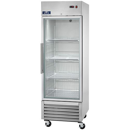 Arctic Air Agr23 Single Door Glass Reach In Refrigerator Glass Door Refrigerator Single Doors Glass Door