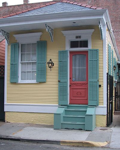 New Orleans Pretty Painted House