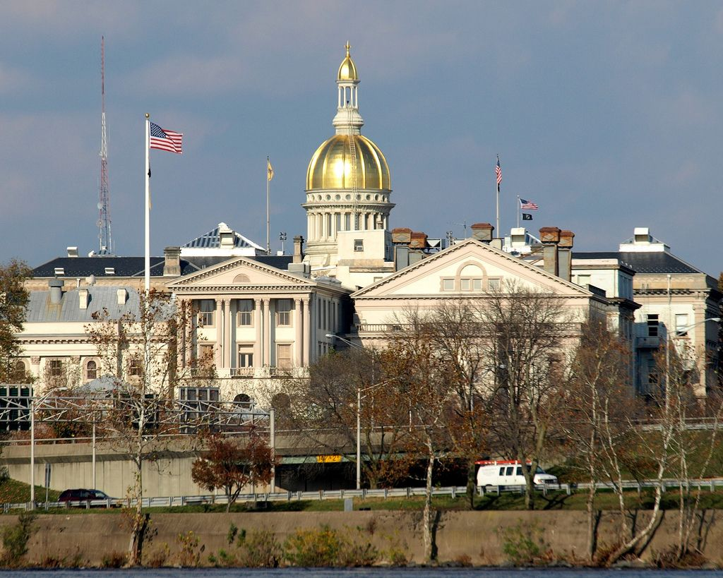 Gold Dome New Jersey State House Ton Nj Usa In 2019