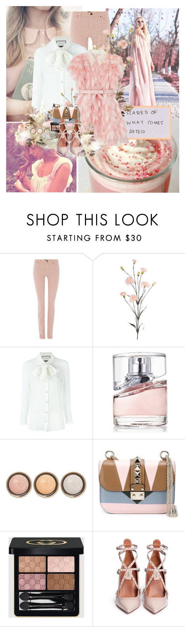"""Elemental: Aurora"" by lady-redrise ❤ liked on Polyvore featuring Oui, Gucci, HUGO, By Terry and Valentino"