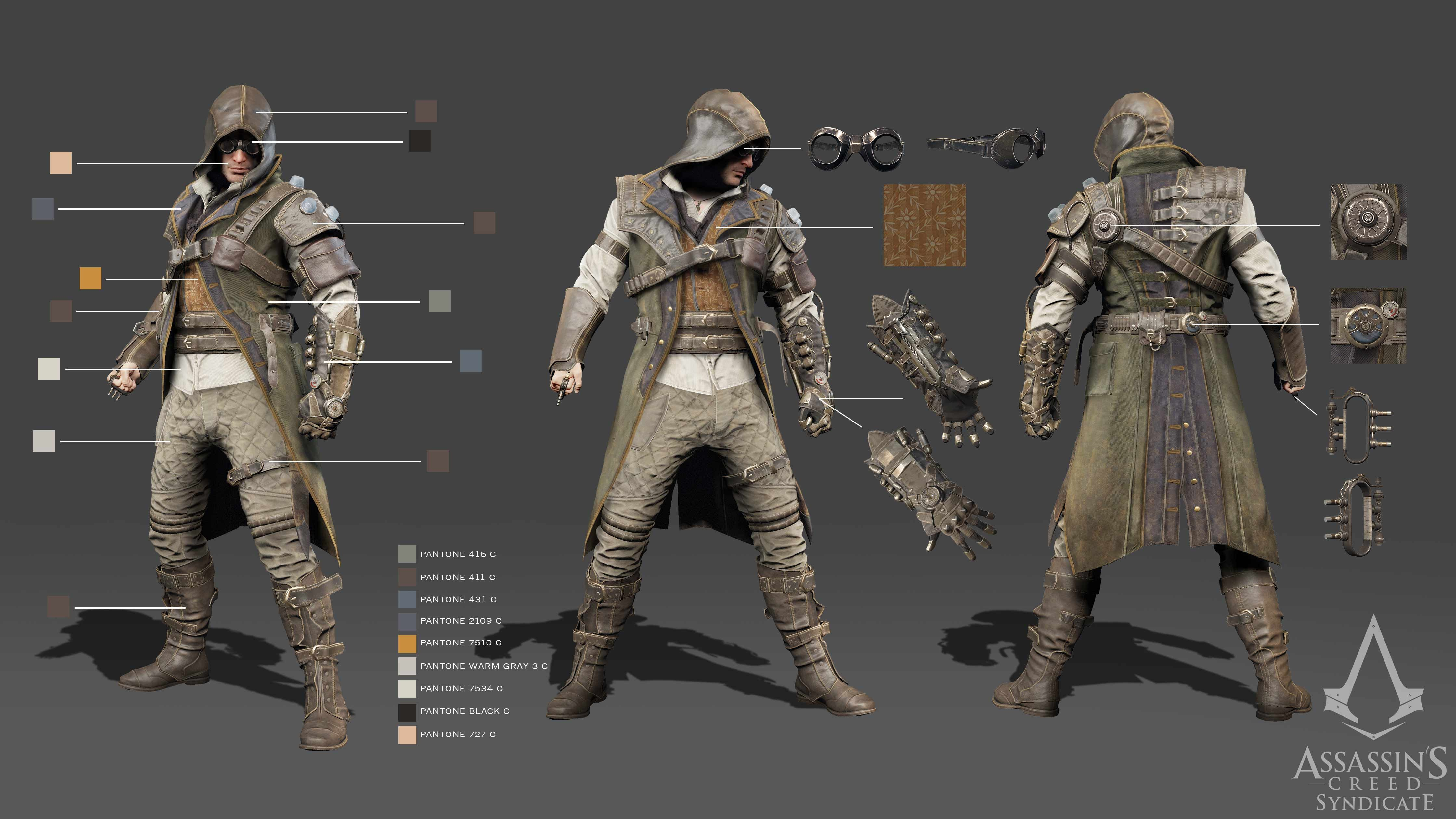 Assassin 39 S Creed Syndicate Steampunk Costume Turnarounds