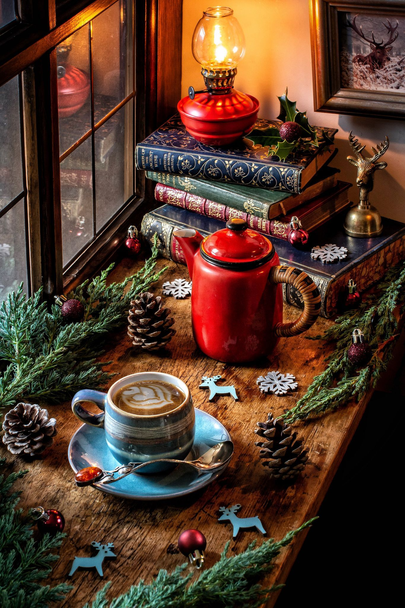 A Winter Evening Cozywinter Evening Winter In 2020 Cozy Christmas Christmas Aesthetic Vintage Christmas