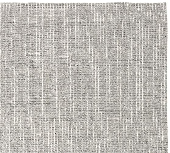 Chunky Wool Jute Rug Gray Ivory Cameilia Project In